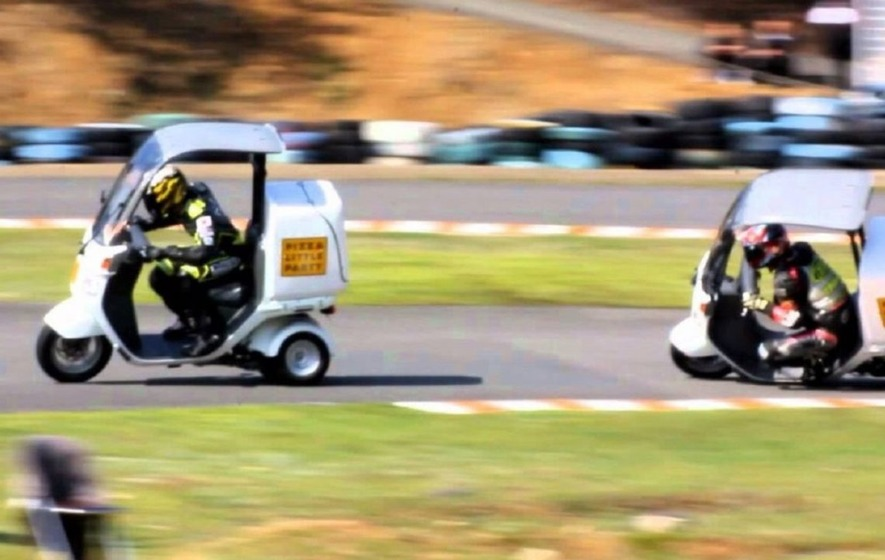 Pizza delivery scooter racing is the sport you didn't know you needed in your life