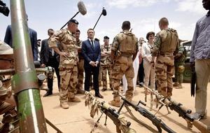 Emmanuel Macron highlights fight against extremism in west Africa