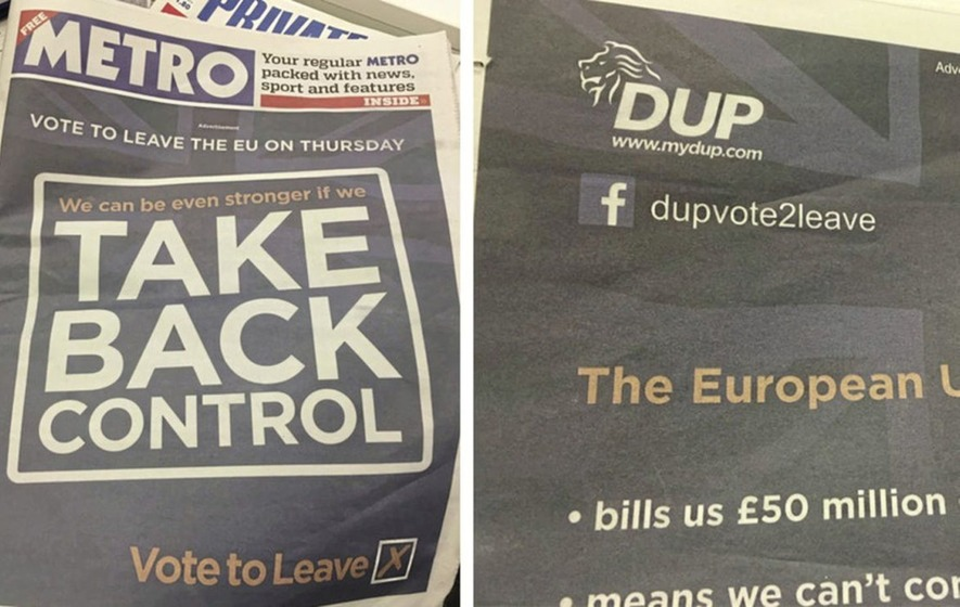 DUP received payment from Vote Leave for Brexit campaign