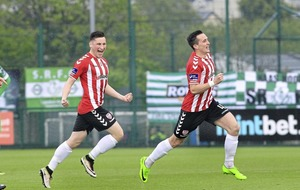 Aaron McEneff double gives Derry victory over Shamrock Rovers