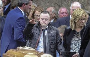Son of murder-suicide victim Connie Leonard 'an inspiration'