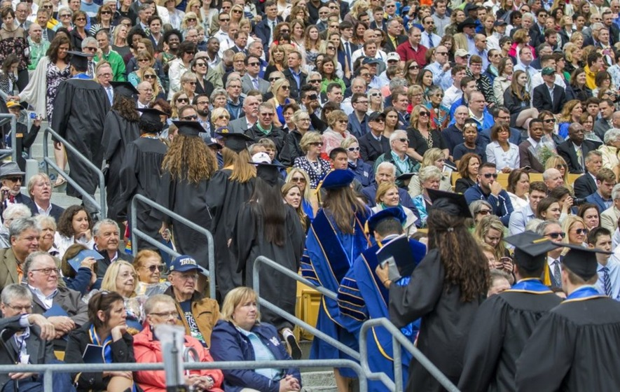 Watch: Graduating students walk out of Mike Pence's commencement speech