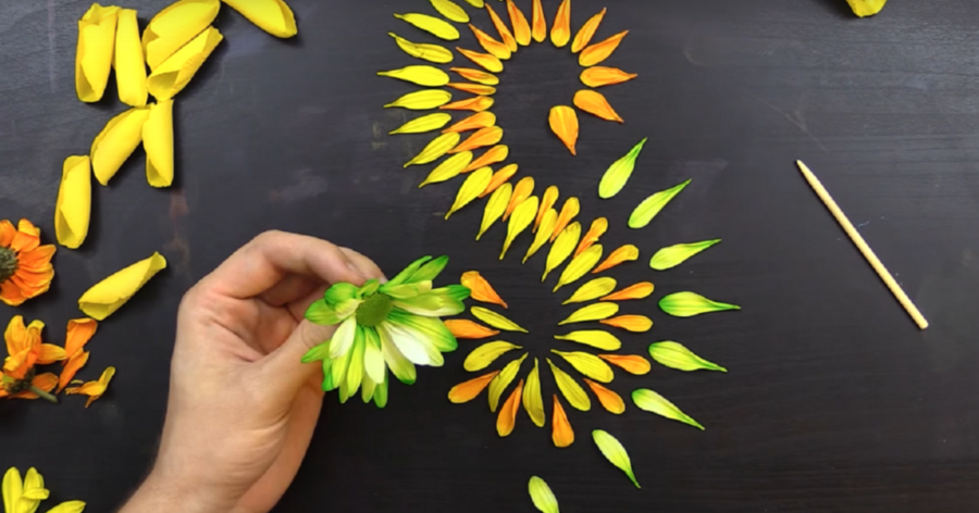 This guy's awesome flower petal art will soothe and