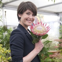 Gemma Arterton visits Chelsea Flower Show to prepare for new film role