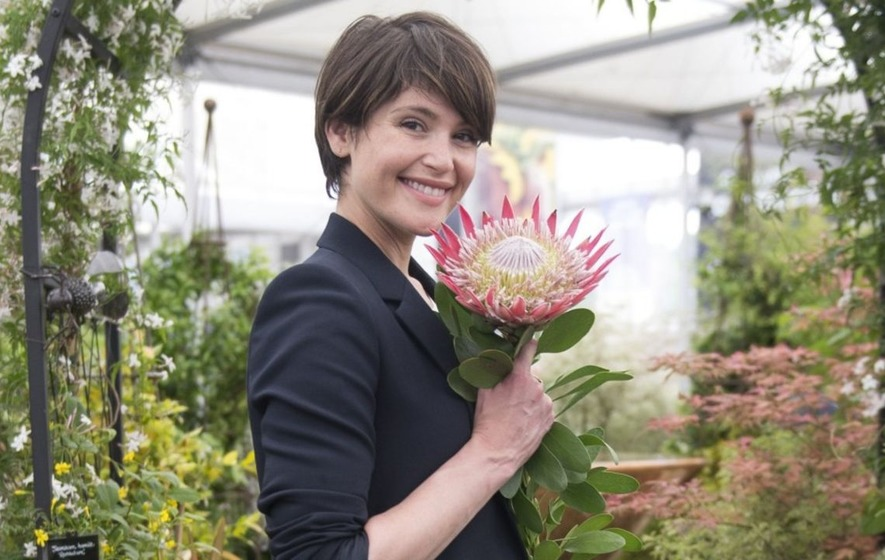 Gemma Arterton visits Chelsea Flower Show to prepare for new film role