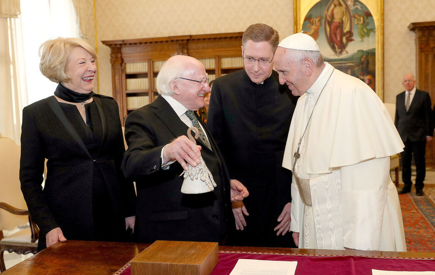 President Higgins alludes to a potential visit to Northern Ireland by the Pope in 2018