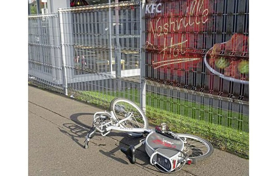 Belfast Bikes left dumped on Shankill Road after being vandalised