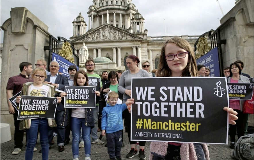 Vigil for the victims of the attack in Manchester