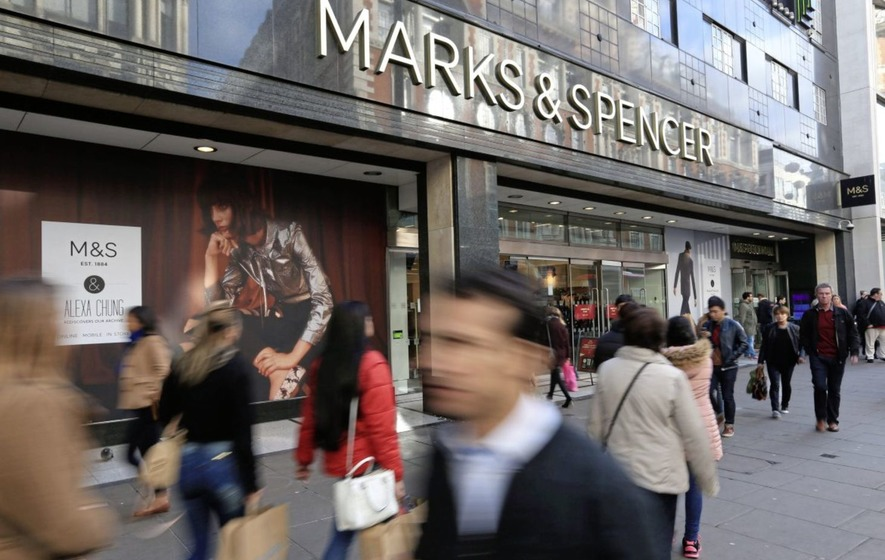 M&S pre tax profits plunge by two thirds as clothing sales fall