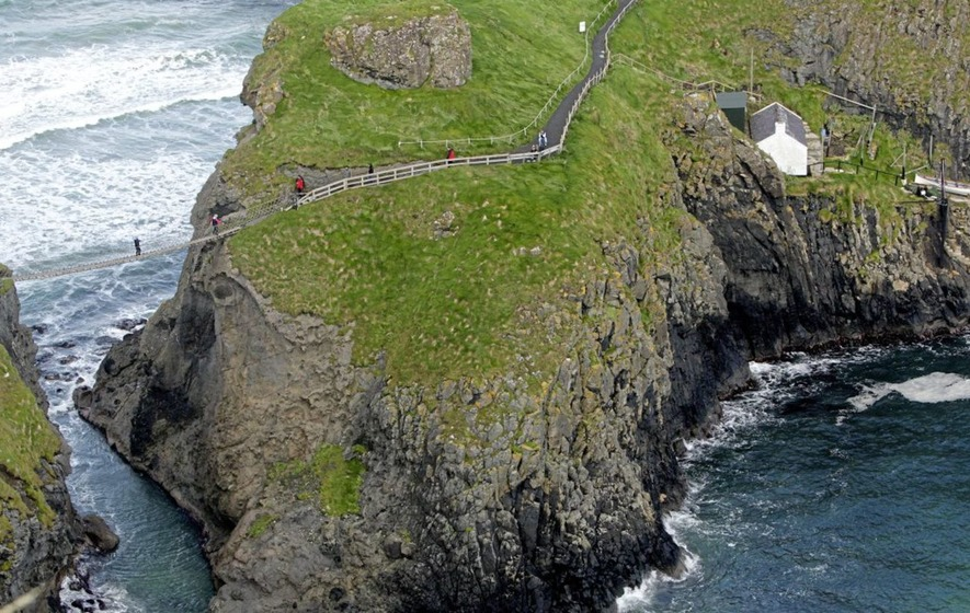 Carrick-a-Rede rope bridge reopens after vandals tried to cut through ropes