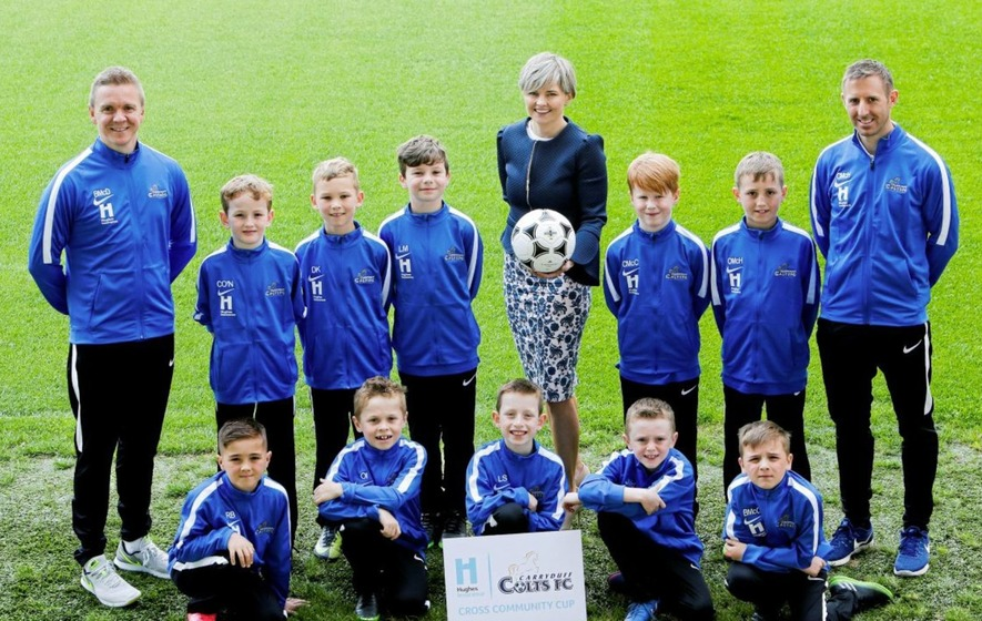 Carryduff Colts and IFA urge 'Let Them Play' at Cross Community Cup