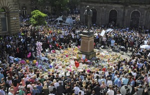 In pictures: The nation joins together for a minute's silence to honour the Manchester victims