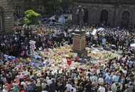 In pictures: Britain holds a minute's silence to honour the Manchester victims