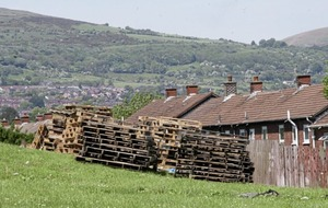 Bonfire material stored in west Belfast gardens has been moved