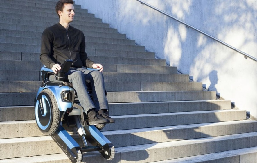 A New Electric Wheelchair Is Able To Go Down Stairs The