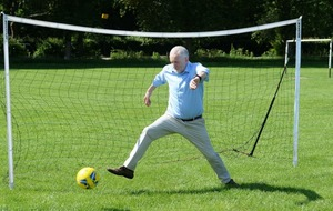 Watch Jeremy Corbyn play football as he vows to make the sport 'for the many, not the few'