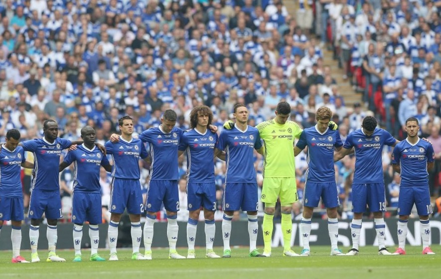 Chelsea forgot to wear black armbands in first half of FA Cup final but fixed their mistake at half-time
