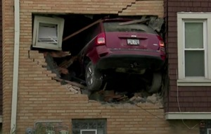 Watch: SUV smashes into a home in the US