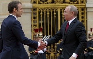 After the Trump-Macron handshake all eyes are on the French president's meeting with Vladimir Putin