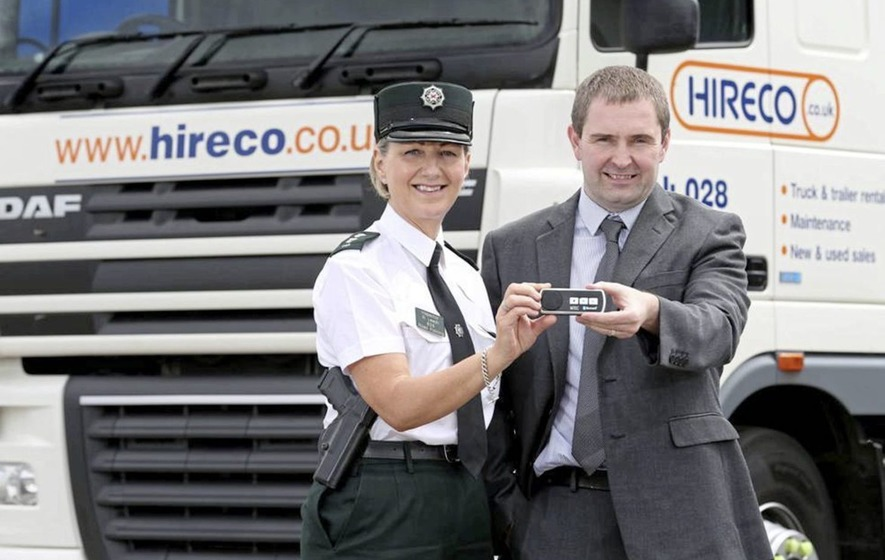 PSNI welcomes Hireco initiative to cut down on lorry driver mobile phone use