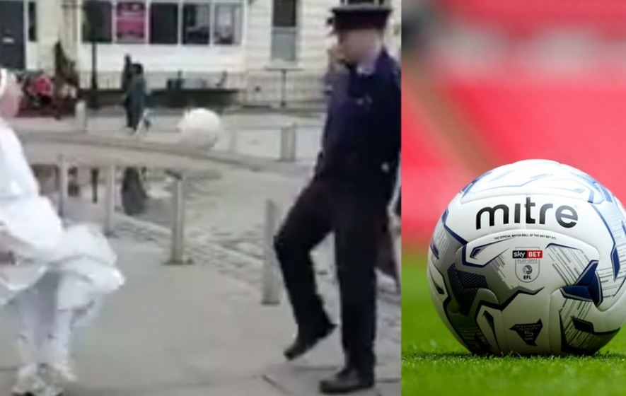 This footballing nun and policeman combination is the gift that keeps on giving