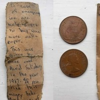 Salford couple find the cutest note trapped in their wall after 50 years