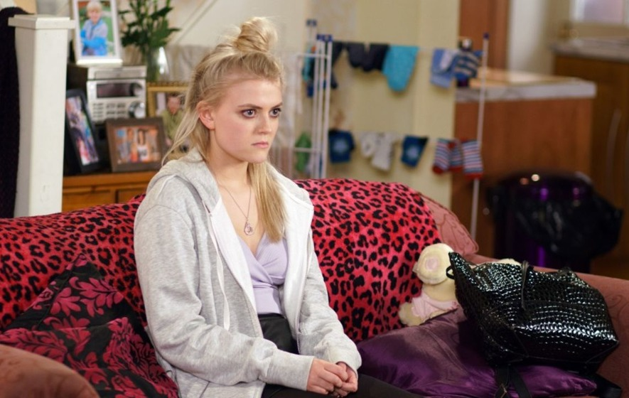 Corrie's Lucy Fallon fought back the tears after being thanked by sexual exploitation victims