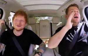 First look at Ed Sheeran doing Carpool Karaoke with James Corden