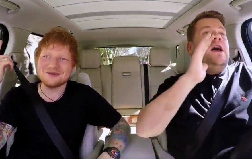 First look at Ed Sheeran doing Carpool Karaoke with James Corden