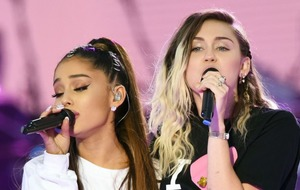 Ariana Grande returns to the stage in Manchester
