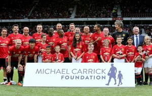Gary Neville and Jamie Carragher stole the show at Michael Carrick's testimonial