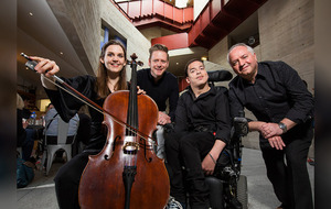 Disabled and non-disabled musicians from Derry perform with the Benyounes Quartet