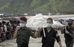 Bodies and plane parts recovered in search for crashed military aircraft