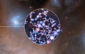 Astronomers have detected a chemical in young stars which could offer clues on how life formed on Earth