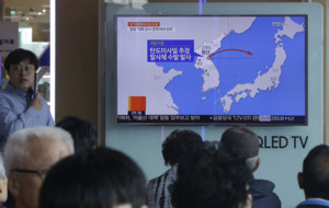 North Korea fires suspected cruise missiles after American drills