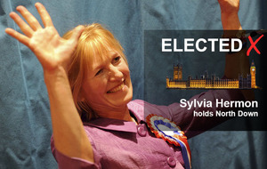 Sylvia Hermon holds North Down - but with DUP now on her tail