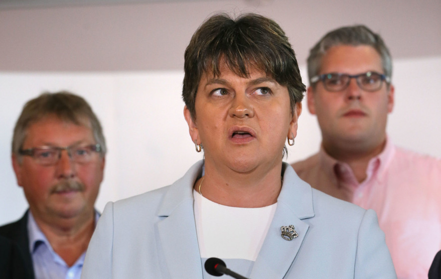Video: DUP leader Arlene Foster says the party is in talks with the Conservatives