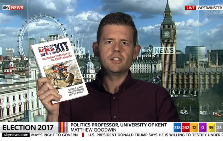 The author who promised to eat his book if Corbyn won more seats has just done that very thing live on TV