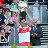 Derry beat Armagh for Nicky Rackard Cup title, while Liam Watson fires Warwickshire to Lory Meagher Cup glory