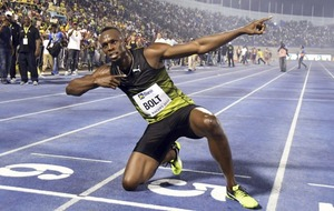 Usain Bolt was very relieved to win his final 100m race on home soil