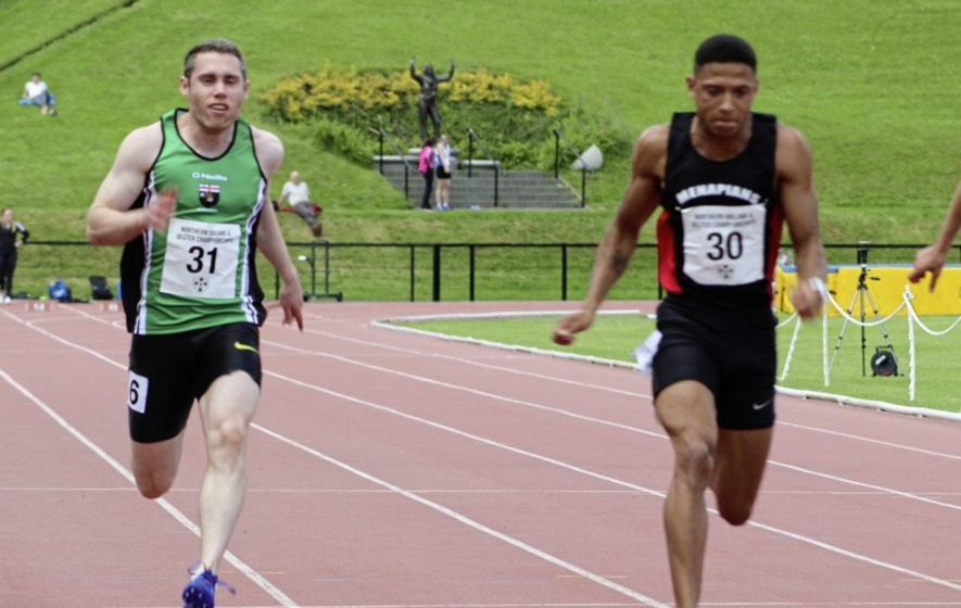 Leon Reid records a sprint double at Mary Peters Track