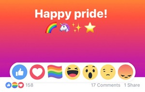 Here's how to get the rainbow reaction emoji on Facebook
