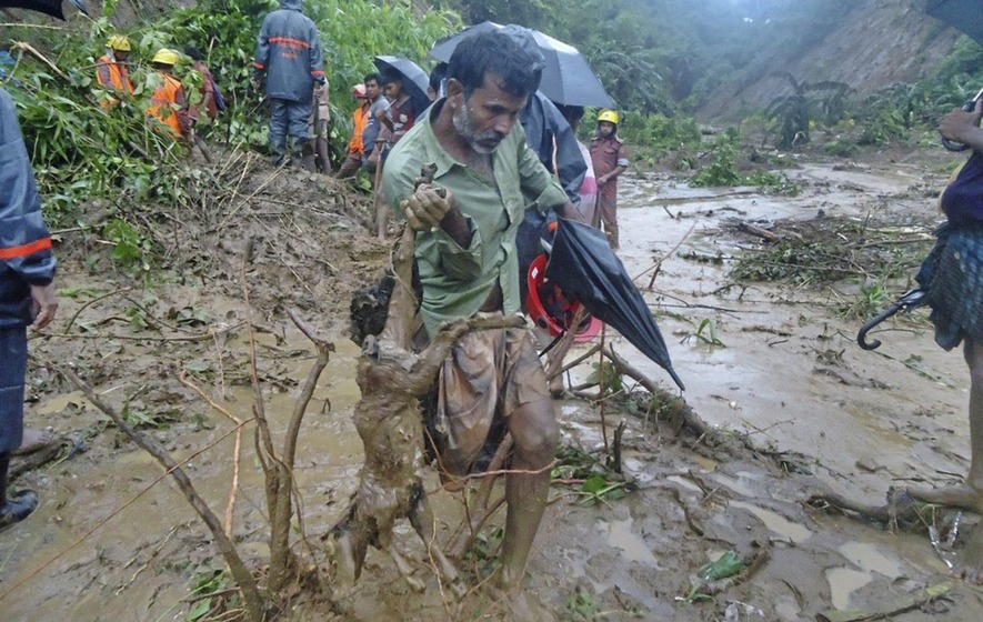 At least 48 dead following landslides in south-east Bangladesh