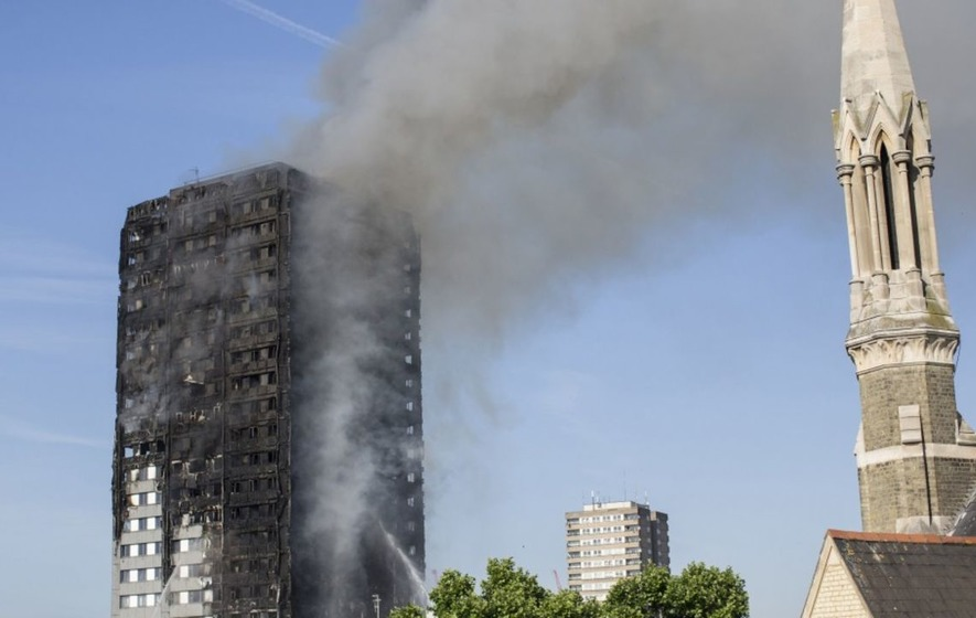 Children tossed from windows in London high-rise blaze