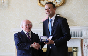 Leo Varadkar vows to lead Republic from the centre as he is appointed taoiseach