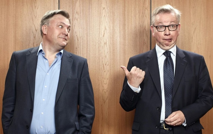 Ed Balls and Michael Gove join together in sketch for The Last Leg