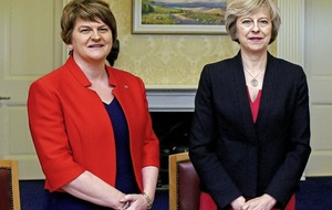 Theresa May seeks to allay fears among DUP's Stormont rivals