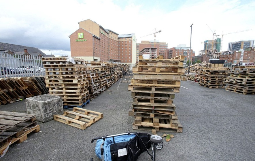 Belfast council accused of 'handling stolen goods' for storing bonfire pallets