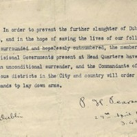 Easter Rising surrender letter signed by Pádraig Pearse sells for £263,000