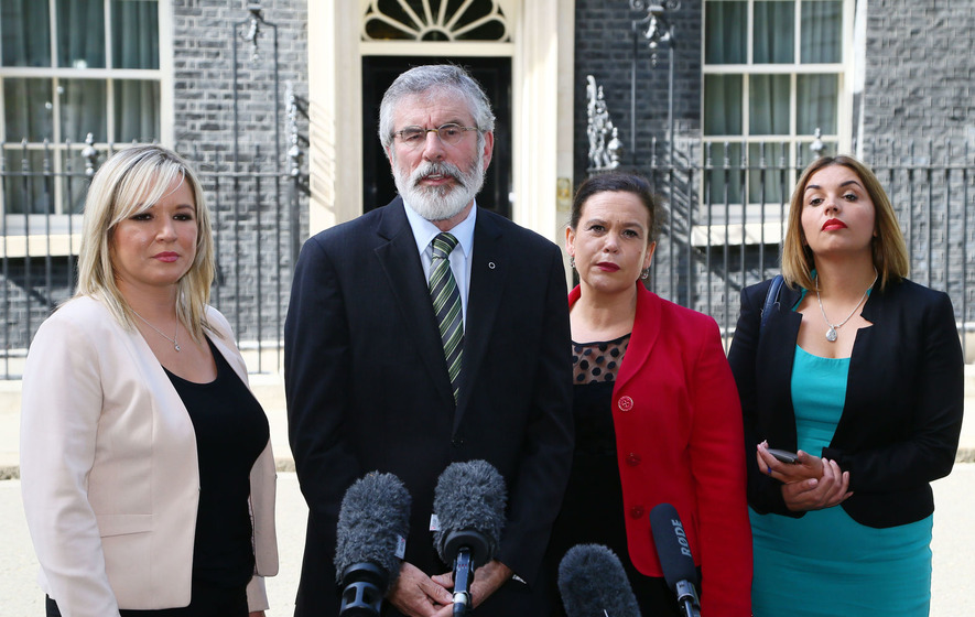 Northern Ireland's politicians meet Theresa May at Downing Street